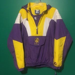 Vintage Starter LSU hooded winter coat